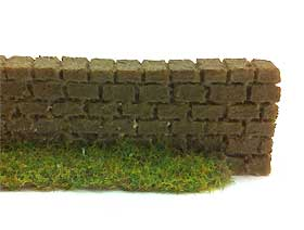 Image of painted clay wall made using modelling clay