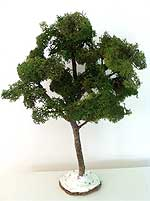 Photo of the same tree, with added reindeer moss to form the foliage
