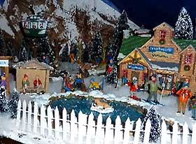 Picture of Christmas Village fencing and pond