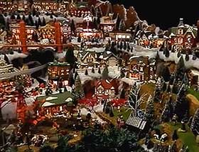Further view of this huge village display, with its extensive greenery