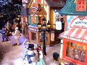 Picture of model street lighting, snowman and figurines