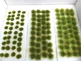 Photo of miniature grass tufts