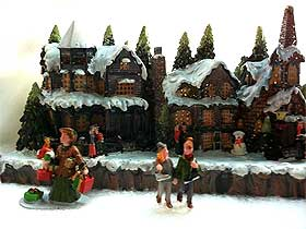 image showing typical christmas village building sold by local retailer