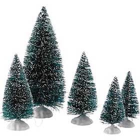 Image of Lemax Christmas Trees, often sold in groups