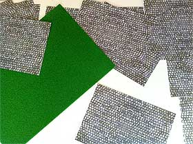View of paving sheets, printed out