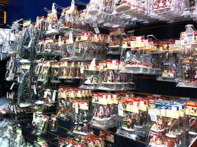 Photo of garden centre selling Lemax figurines