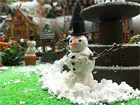 Photo of homemade snowman model