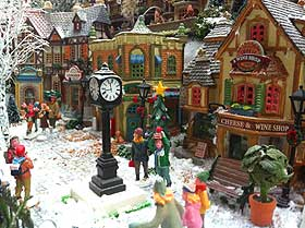 Further picture of the Christmas Village stand and street