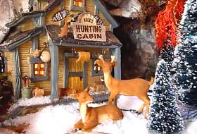 Photo of deer displayed within Christmas Village