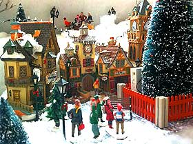 picture of christmas village plaza - Miniature Christmas Village