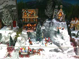 Picture showing how snow and Christmas trees can be an integral element