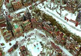 Aerial image of a model village