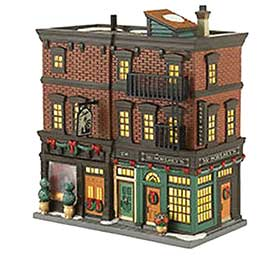 Soho Shops photograph, from the Department 56 Christmas in the City collection