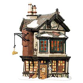 Ebenezer Scrooge's House photograph, in the Department 56 Dickens Village series