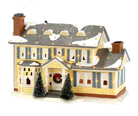 View of the Griswold Holiday House, from the Department 56 Original Snow Village