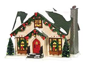 Photo of the Department 56 Dancing Lights House, belonging to the Original Snow Village