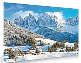 Image of snowy mountain background
