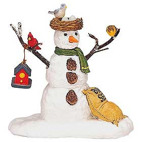 Photo of Lemax snowman, named Feathered Friends