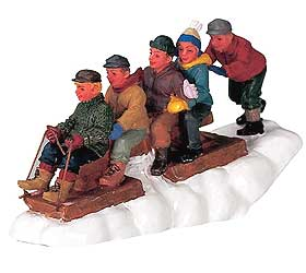Image of the Lemax Here We Go Christmas figurines