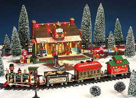 Image showing official Lemax Christmas Village 'Starlight Express' railway set