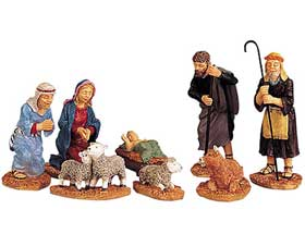 Photo of traditional nativity model figurines