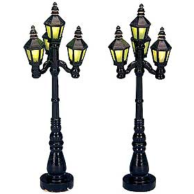 Lemax Old English Gas Lamps, sold as a twin-pack