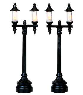 View of two Olde Town Lamps