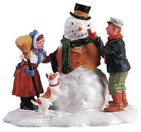 Photograph of the Lemax Our Snowman figures