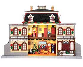 Photograph of the 6AM Christmas Morning building from the Lemax Santa's Wonderland Collection