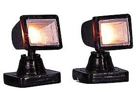Picture of Lemax spotlights, powered by batteries