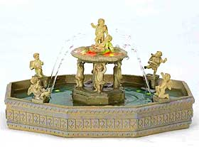 Picture of a Lemax village square fountain